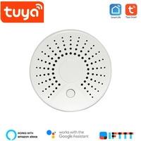 Free shipping Tuya Wifi Smoke detector Fire Alarm detector Smart life App Notification Alerts With Linkage Setting