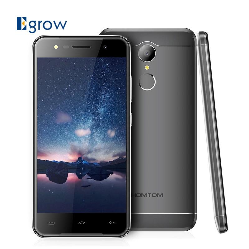 bilder für Original Homtom HT37 MTK6580 Quad Core Android 6.0 Fingerprint ID Handy 5,0 Zoll Handys 2G RAM 16G ROM Smartphone