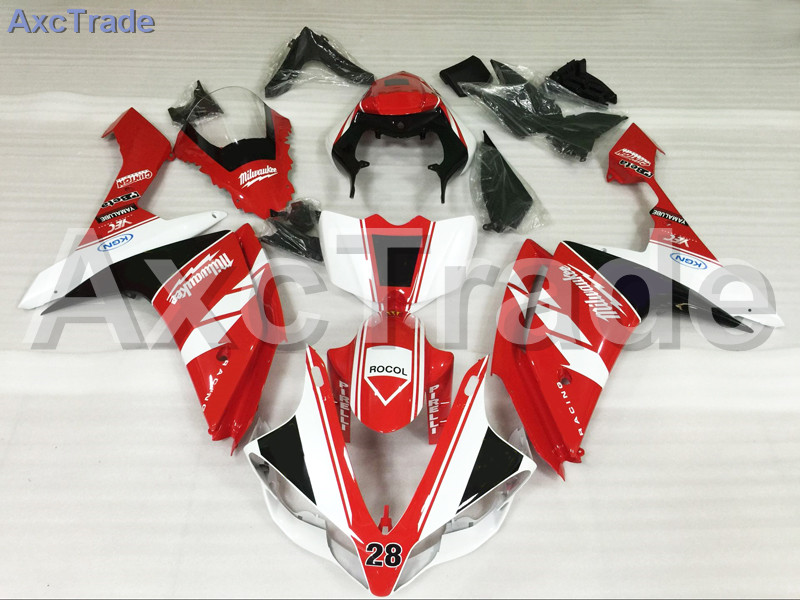 Motorcycle Fairings Kits For Yamaha YZF1000 YZF 1000 R1 YZF-R1 2007 2008 07 08 ABS Injection Fairing Bodywork Kit Red White hot sales yzf600 r6 08 14 set for yamaha r6 fairing kit 2008 2014 red and white bodywork fairings injection molding