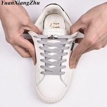 New 1 Second Quick No Tie Shoe laces Flat Cross buckle Elastic ShoeLaces Kids Adult Unisex Sneakers Shoelace Lazy Laces Strings hatber дневник школьный texture
