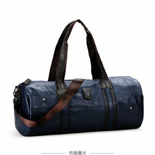 2017 Men's New Style PU Gym Crossbody Bag Large Capacity Leather Sports Bag For Male Outdoor Travel Duffel Tote Strorage Handbag