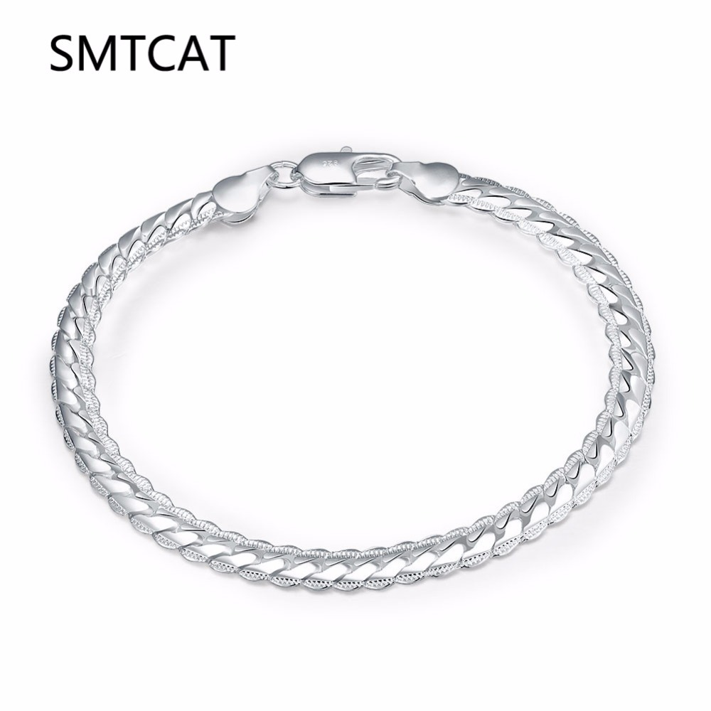 6ecba2a45d81 Accesorios de joyería SMTCAT pulseras y brazaletes regalos femeninos para  mujeres chicas cadena enlace femme braslet braceles steel girls