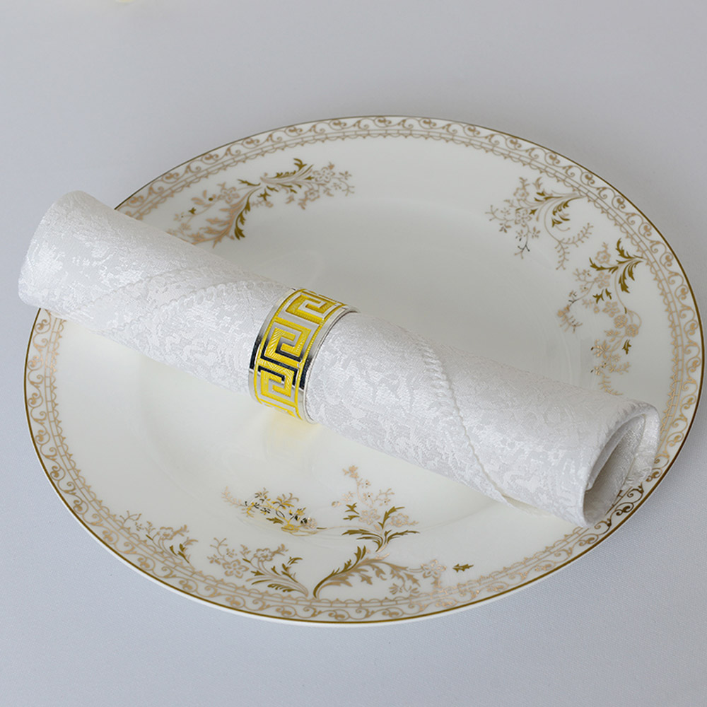 100pcs/lot 48*48cm Square Dobby Folding Cloth Polyester