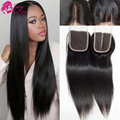 Virgin Peruvian Straight Closure Natural Color Free Part Closures With Baby Hair Cheap Lace Closure With Free Shipping