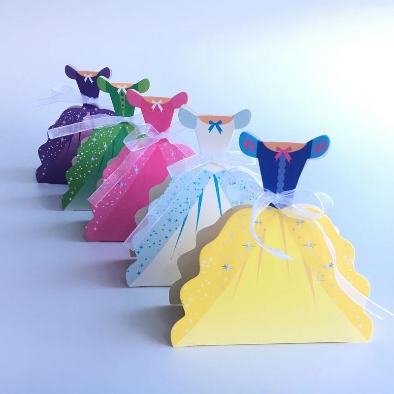 Romantic Princess Wedding Candy Box 25pcs Baby Shower Birthday Party Favor Box Wedding Gift Box