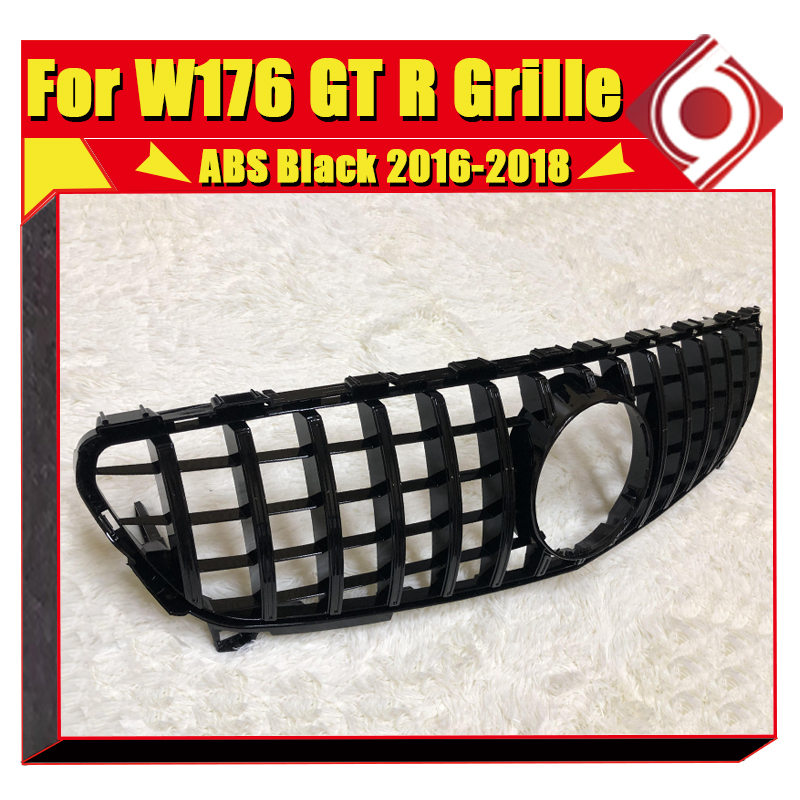 W176 A45 look grille grill ABS gloss Black Chrome without sign For MercedesMB A Class A180 A200 A250 Sports GTS grills 2016 in in Racing Grills from Automobiles Motorcycles