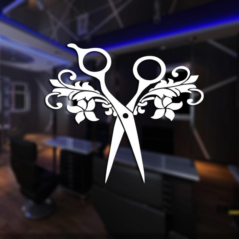 Ciseaux Salon de coiffure autocollant coiffeur décalcomanie Salon de ...