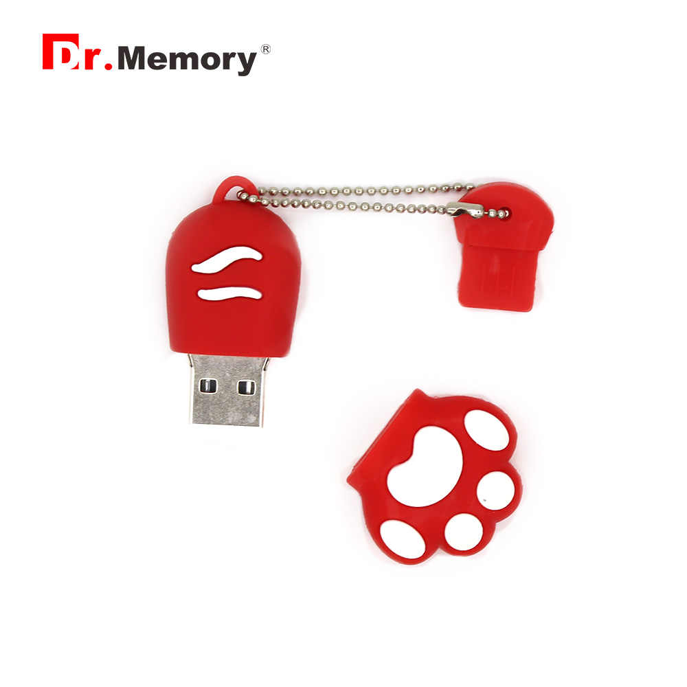 Cartoon USB Flash Drives 64GB Cat Bear Paw Animal Pendrive Personalized 4GB 8GB 16GB 32GB Memory Stick Pen Drive Flashdisk Gifts