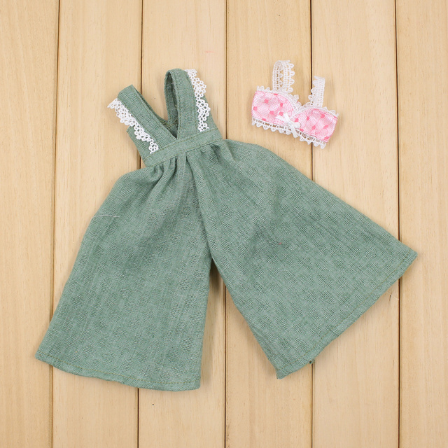 Blyth Loose Pants with Lace Bra for 12 inch Doll Joint Body Sexy Dressing Free Shipping