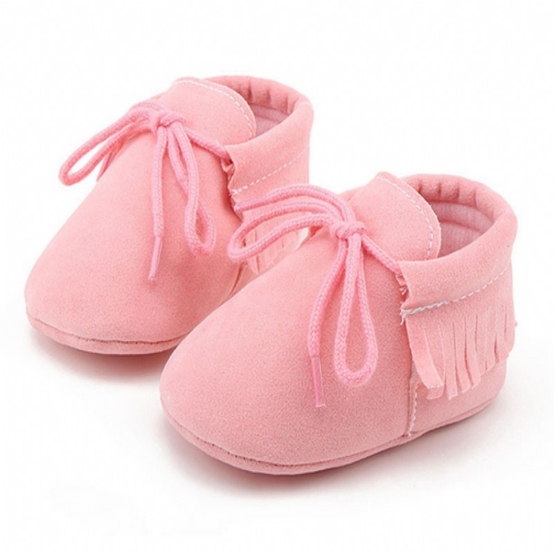 2018 new lace-up Pu leather Baby Moccasins shoes infant suede boots first walkers Newborn baby shoes scarpe bimba kids shoes