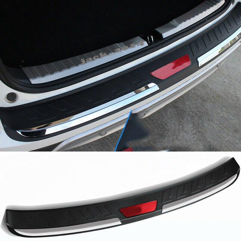 Rear Bumper Trim Cover Trunk Outside Sill Scuff Plate for 2012-2016 Honda CR-V