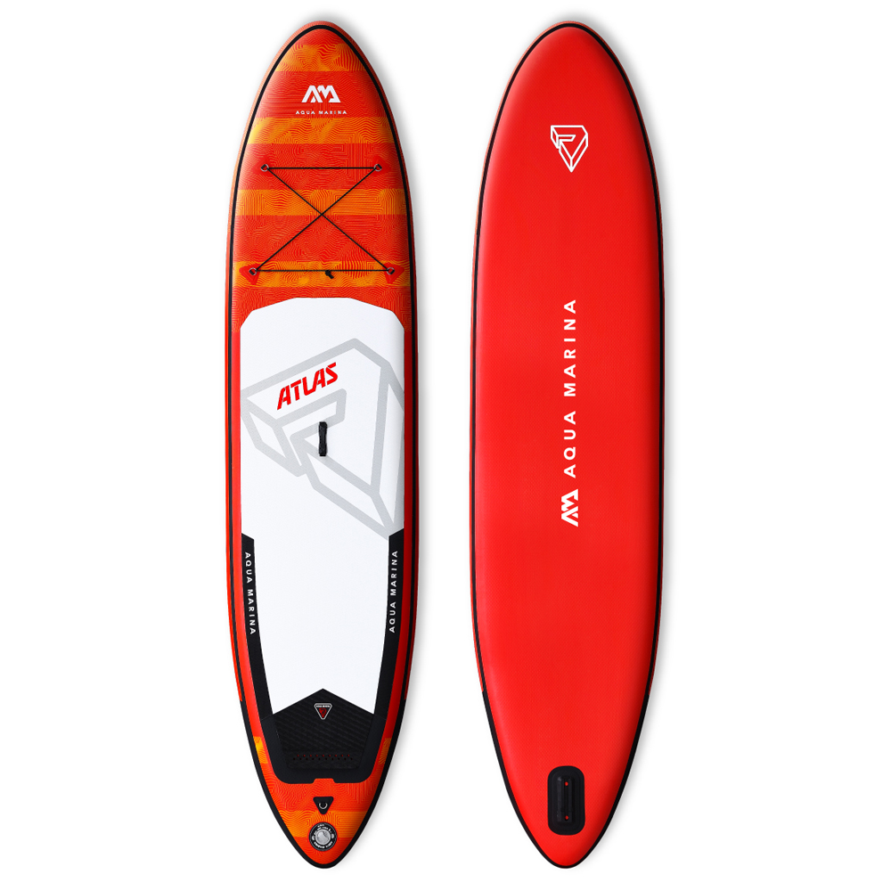2019 nouveau design Aqua marina Atlas 12 pieds Gonflable SUP Stand up Paddle Board iSUP Paddle Board Gonflable Grand pagayeur monstre
