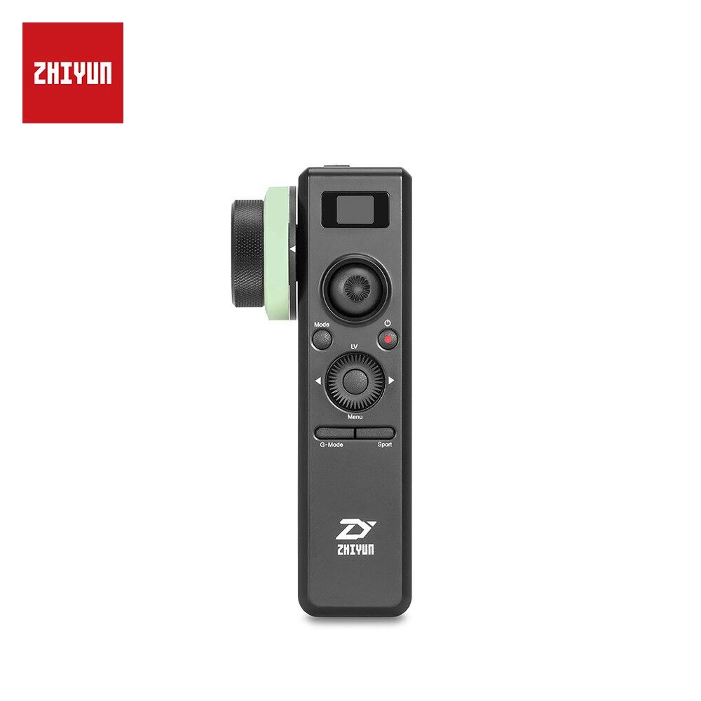 ZHIYUN кран 2 движения сенсор управление с последующим фокусом беспроводная система контроля 2,4g параметры на OLED экран для