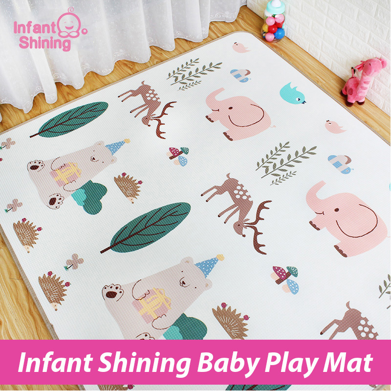 Infant Shining Baby XPE Play Mat Puzzle Crawling Pad Game Blanket Thickness 1 7cm Living Baby