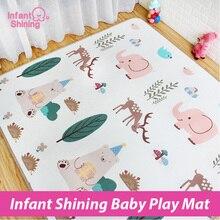 Детский Сияющий детский игровой коврик XPE Puzzle Crawling Pad Game одеяло толщина 1,7 см живой Детский ковер пена см 180*200 см образовательный