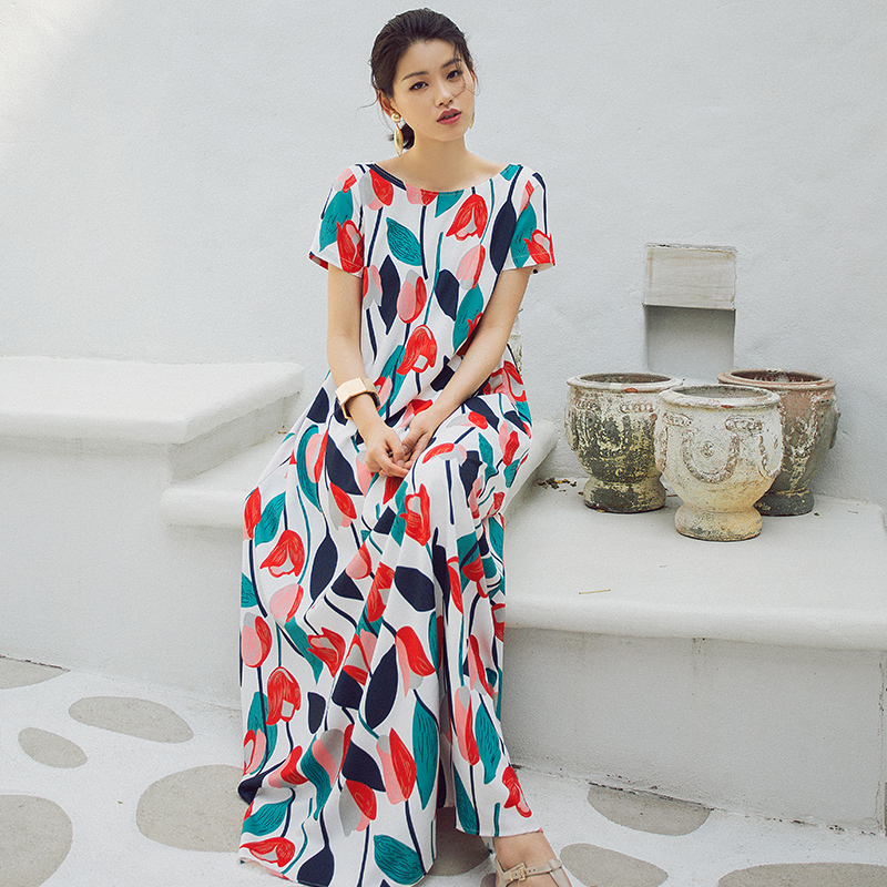78240cc9944 VERRAGEE Summer A-line Printed Maxi Dress Women 2018 New Brand Floor length  female loose printing holiday long dress