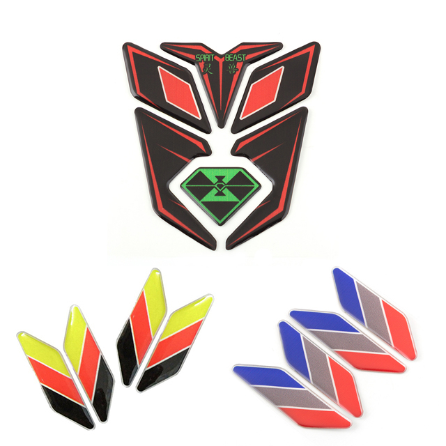 Car Motorcycle Tank Sticker Decals Motobike Reflective Protection Pad