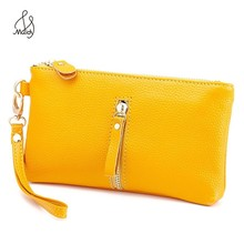 Women Ladies Cow Leather Genuine Long Interior Zipper Pocket Wallet Purse With Wallets And Purses Maidy Designer Handbags