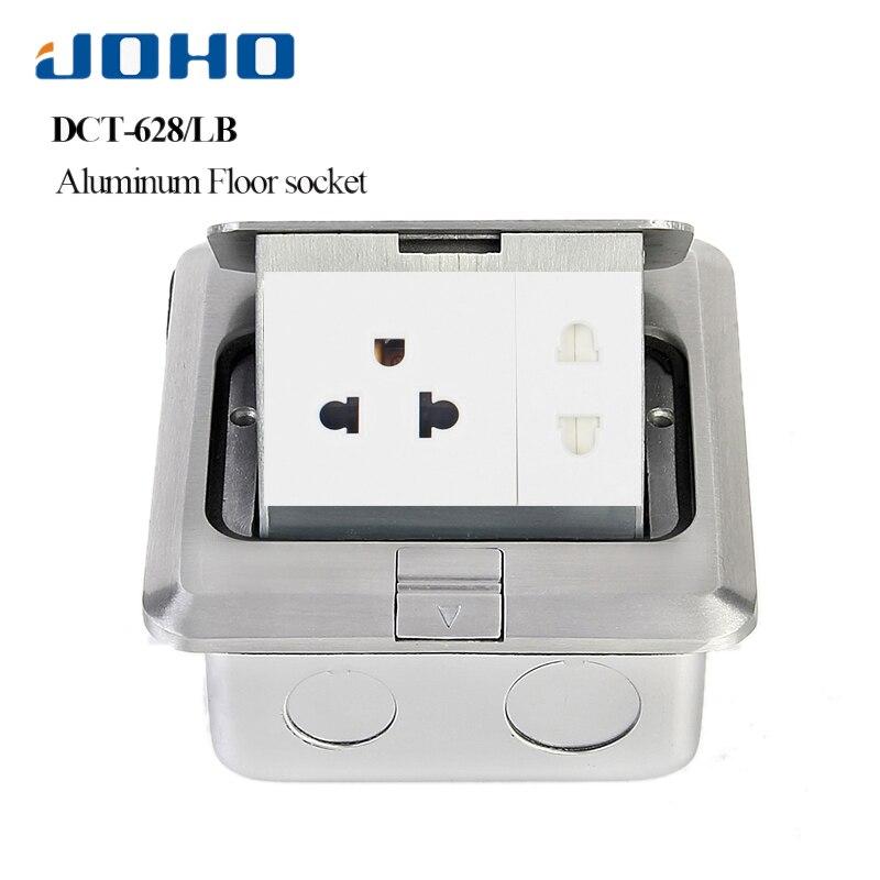 JOHO boîte de sortie rapide en alliage d'aluminium 15A US prise 2 pôles RJ45 HDMI USB pour salon chambre bureau