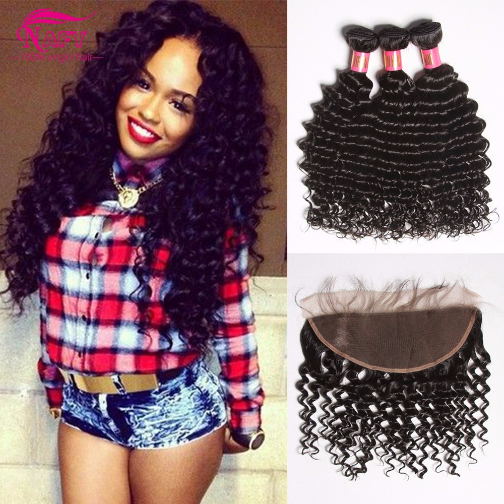 7a Malaysian Curly Hair With Closure Ear To Ear Lace Frontal With Baby Hair