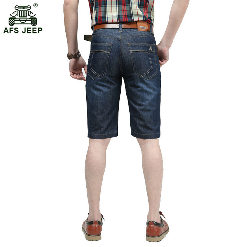 AFS JEEP 2017 summer new fashion jeans shorts men demin casual knee length trousers 65wy ...