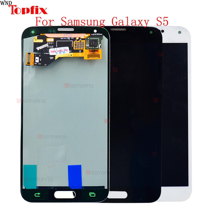 <font><b>Super</b></font> <font><b>AMOLED</b></font> LCD <font><b>Display</b></font> Touch Screen Digitizer For <font><b>Samsung</b></font> Galaxy <font><b>S5</b></font> G900F G900I G900M G900A LCD Assembly Replacement Parts image
