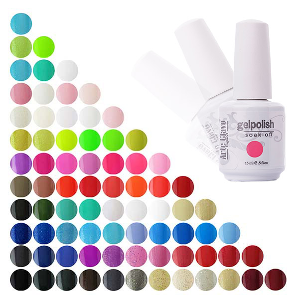 Specialpris 15ml Arte Clavo En Farve Nail Gel Bulk UV Gel Top Base Coat Neglelak Engros