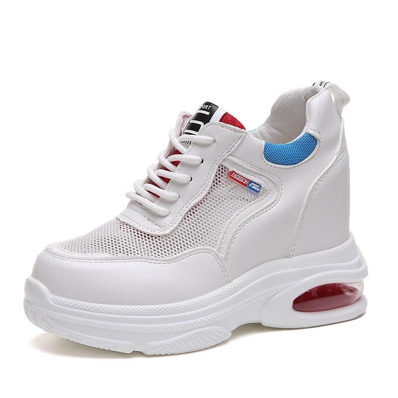 Transpirable Blancos Malla Suela Ocasionales blanco amarillo Nuevo Verano De Zapatos Rojo Las Gruesa 2018 Mujer Mujeres PEwEAqv