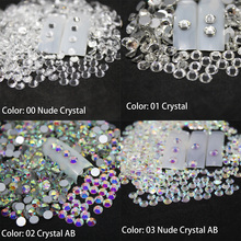 Nail Rhinestones for Nail Art Crystal Glass Stones 3D Nail Art Decoration SS12-SS40 Flat Back Non Hot Fix Gems nails accessoires