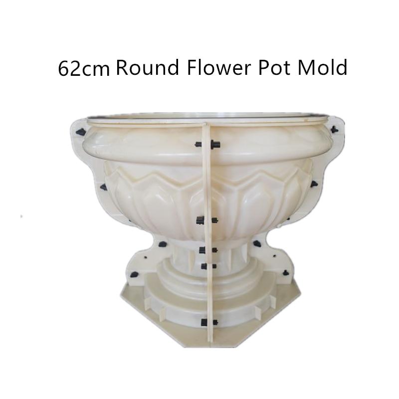 62cm 24 41in GRC Durable Home Gardening Bottom Casting Bonsai DIY Round Concrete Cement Flower Pot
