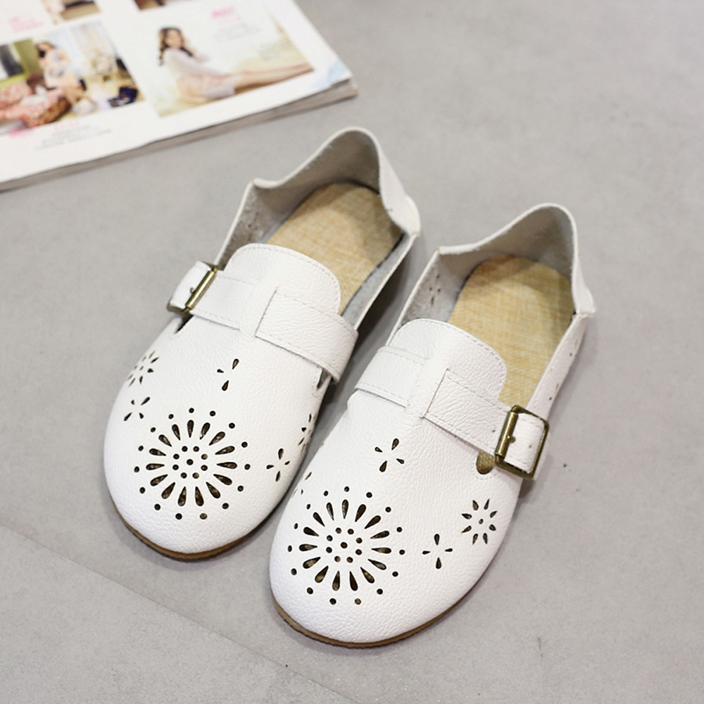 Zapatos de Mujer  Mujeres de La Manera de LA PU de Cuero Pisos Loafers Resbalón