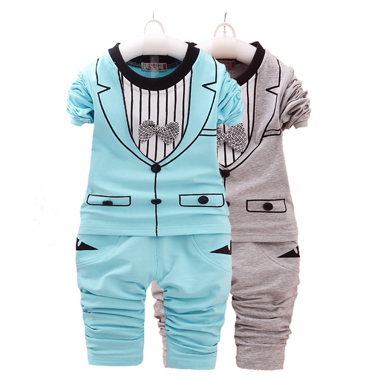 little child girl clothes boy bow tie gentleman child suit baby spring and autumn sportswear cartoon print cotton Children 39 s wea in Clothing Sets from Mother amp Kids