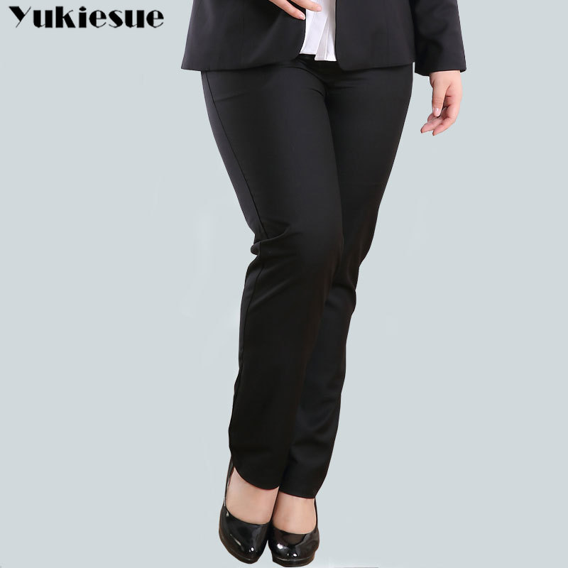 summer 2019 ol office workwear women's   pants   female high waist straight   pants     capris   for women trousers woman Plus size 34-44
