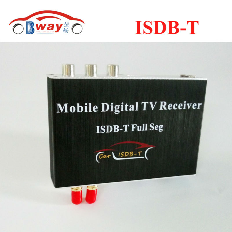 Car Digital TV Receiver full seg ISDB-T double antenna 2 video out for Japan Brazil South America TV box for Car DVD and screen tv031 brazil standard hd isdb t car digital receiver silver