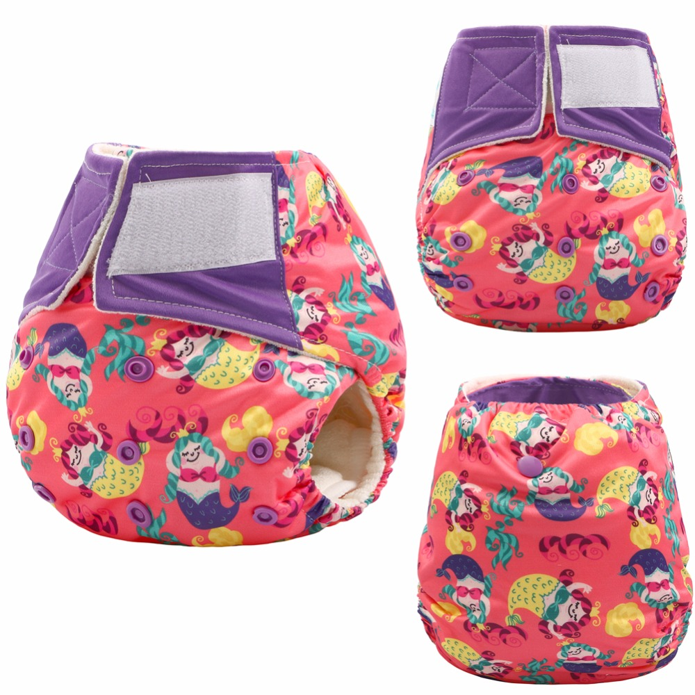 JinoBaby Pocket Reusable Diaper One Size Baby Diaper Bamboo Pants (Newborn To 30lbs.)