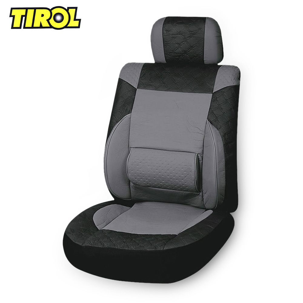 TIROL Universal PU Leather Car Front Single Seat Cover Set Four Seasons Interior Accessories Decoration Protector