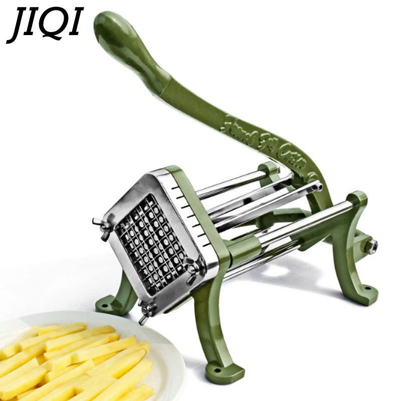 JIQI Potato chips making machine chips potato food French Fry Cutter Manual Kitchen Carrot Cucumber slice cutting machine