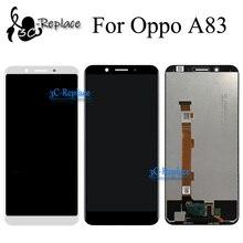 Высококачественный черный/белый 5,7 дюйма, новый для Oppo A83 A83T ЖК дисплей + кодирующий преобразователь сенсорного экрана в сборе, замена, бесплатная доставка