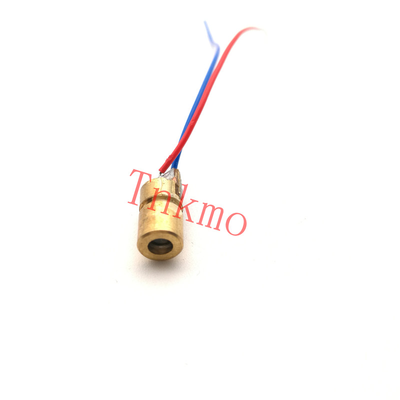 10PCS 650nm 6mm 5V 5mW Laser Dot Diode Module Copper Head Red laser head owx8060 owy8075 onp8170