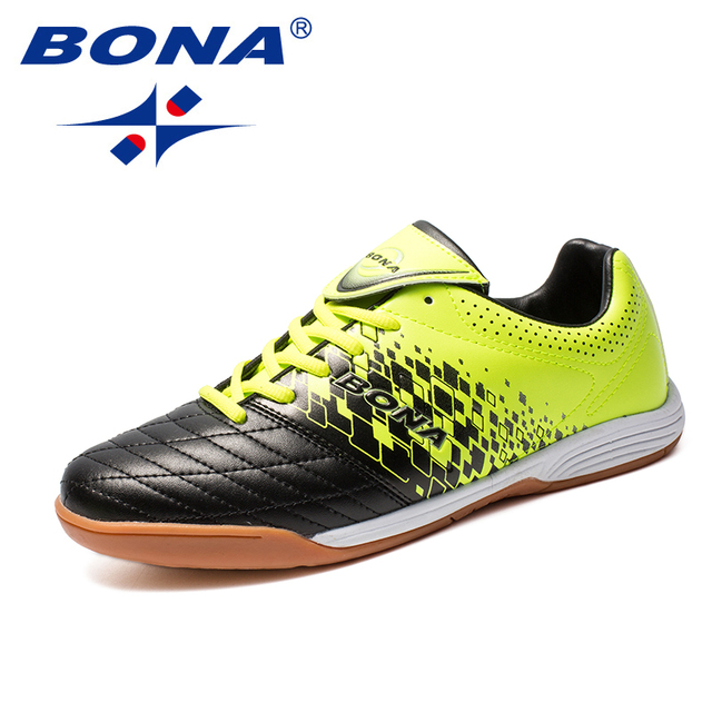 BONA New Arrival Classics Style Men Soccer Shoes Leather Men Football Shoes Lace Up Men Athletic Shoes Comfortable Free Shipping