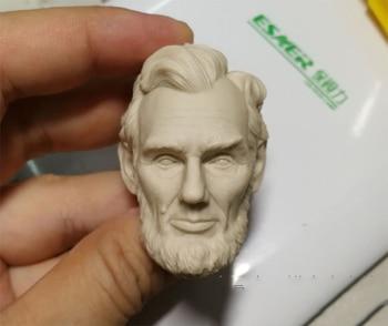 Cabeza 1/6 Abraham Lincoln sin pintar para cuerpos de figuras de acción...