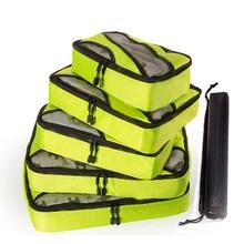 QINYIN Unisex Clothing Sorting Storage Bags 5PCS/set Nylon Packing Cube Travel Bags Zipper Waterproof Big Capacity Of Bags