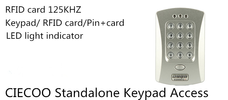 125KHz Door RFID Keypad Proximity Reader Access Controller System single door access control keypad  for wooden door turck proximity switch bi2 g12sk an6x