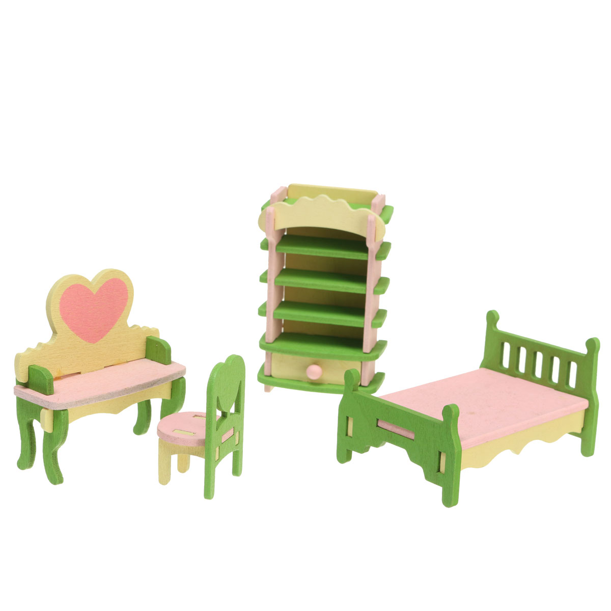 Wooden Delicate Dollhouse Furniture Toys Miniature Three dimensional Jigsaw Puzzle For Kids Children Pretend Play Dolls
