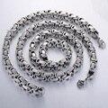 JEWELRY SET Mens Boys Silver Tone Byzantine Box Bracelet Necklace Set 316L Stainless Steel Fashion Gift Wholesal Jewelry KS75