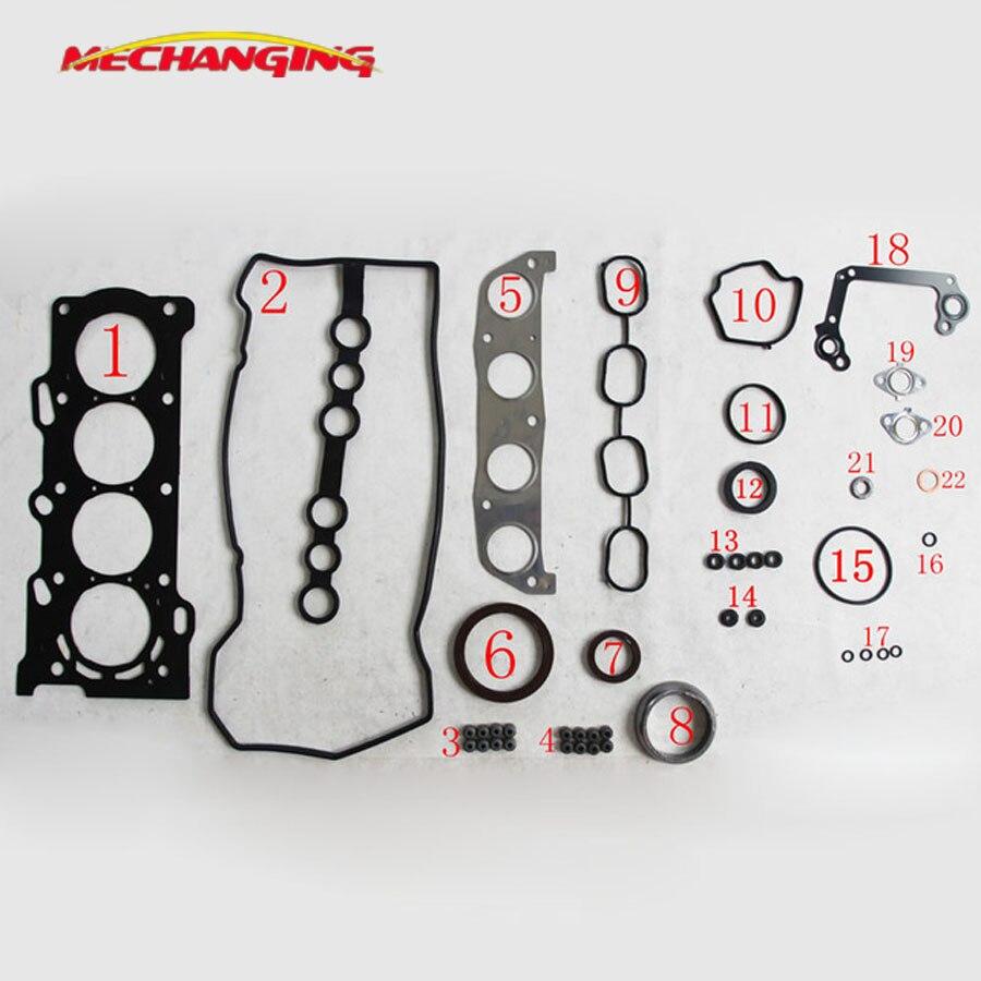 customized LOGO For TOYOTA MR 2 III RAV 4 II COROLLA 1.8L 1ZZFE Engine Rebuilding Kits Engine Parts Engine Gasket 50177500