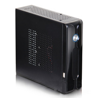 Hot sale DIY Mini itx HTPC case black Steel home theatre itx motherboard PC computer case gaming desktop enclosure chassis