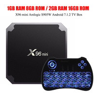 X96mini Android 7 1 2 S905W Mali 450 Penta Core TF Card TV Box 8GB 1G