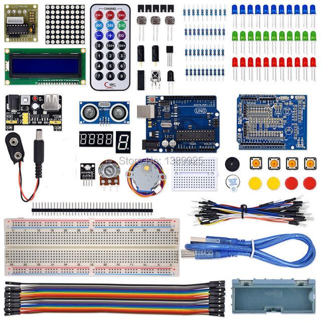 O Melhor Super Iniciado Aprendizagem Kit para Ar-duino UNO R3 Versão Atualizada Kit Suíte Aprendizagem Com módulo de toque presente