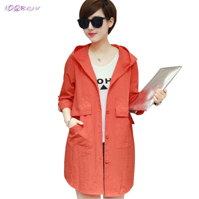 2018 summer Sun protection women coat plus size 6XL elegant female   trench   coat women thin Casual big size long coat IOQRCJV T304